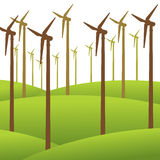 De duurzame energieachtergrond van de windmolen Royalty-vrije Stock Fotografie