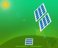 De Duurzame energieconcept van de Zonne-energie Groen Energie vector illustratie