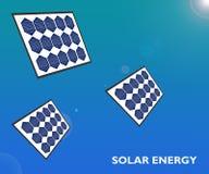 De Duurzame energieconcept van de Zonne-energie Groen Energie royalty-vrije illustratie