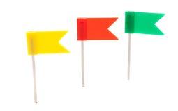 De duw speldt vlaggen Stock Foto