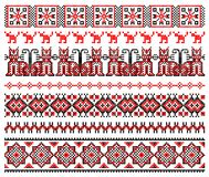 De dwars-steekpatroon van het borduurwerk stock illustratie