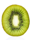 De Dwarsdoorsnede van het Fruit van de kiwi stock fotografie