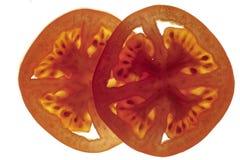 De dwarsdoorsneden van de tomaat Royalty-vrije Stock Foto