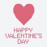 De dwarskaart van Valentine vector illustratie