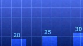 De dynamische close-up van het bedrijfsgrafiekdiagram 4K vector illustratie