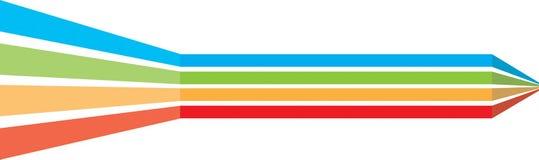 De dynamische Grens van de Lijn stock illustratie