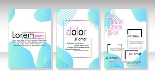 De dynamische ontwerpset van de stijlbanner met vloeibare gradiëntelementen royalty-vrije illustratie