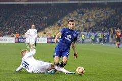 De Dynamo Kyiv van het voetbalspel FC versus FC Everton Stock Foto's