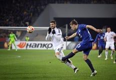 De Dynamo Kyiv van het voetbalspel FC versus FC Everton Royalty-vrije Stock Foto's
