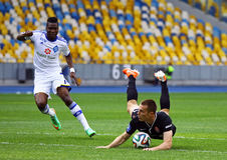 De Dynamo Kyiv van het voetbalspel FC versus Zorya Luhansk stock foto