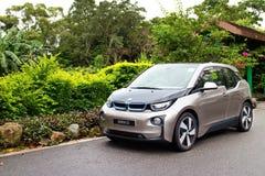 De e-aandrijving 2014 van BMW i3 testaandrijving Stock Foto's