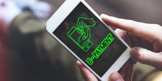De e-Betaling van de de Transactieboekhouding van het betalingsbankwezen Concept Royalty-vrije Stock Foto