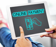 De e-Betaling van de de Transactieboekhouding van het betalingsbankwezen Concept Royalty-vrije Stock Afbeelding