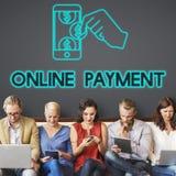 De e-Betaling van de de Transactieboekhouding van het betalingsbankwezen Concept Royalty-vrije Stock Fotografie