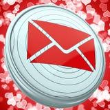 De e-mailenvelop toont het Berichtpictogram van het Wereldcontact royalty-vrije illustratie