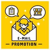 De e-mailmarketingbevordering verzendt naar klant vector illustratie