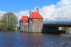 ` De Eagle del ` del puente levadizo por el río de Deima Fotografía de archivo libre de regalías