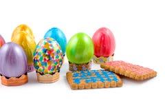 De Easter vida ainda no fundo branco Imagens de Stock
