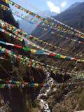 De echte kleuren van Himalayagebergte Stock Fotografie