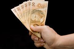 De echte nota's van Brasilia Stock Fotografie