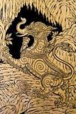 De echte Thaise stijl, craftman verf van veronderstelt Stock Afbeelding