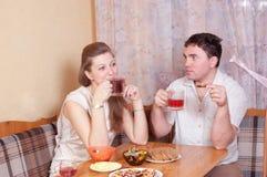 De echtgenoten spreken Royalty-vrije Stock Fotografie