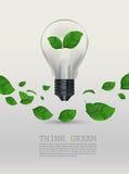 De ecologie denkt groene bol vectorillustratie royalty-vrije illustratie