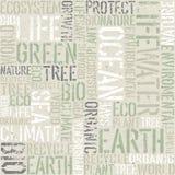 De ecologie themed naadloos patroon stock illustratie