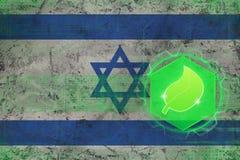 De ecologie van Israël Het concept van de ecologiebescherming Stock Foto