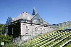 De ecologische moderne bouw van bibliotheek. Royalty-vrije Stock Afbeeldingen