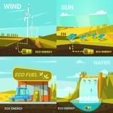 De ecologische reeks van het energiebeeldverhaal Royalty-vrije Stock Foto