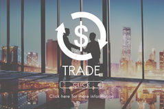 De Economie Financieel Concept van de handelsConjunctuurcyclus Royalty-vrije Stock Fotografie