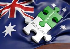De economie van Australië en het concept van de financiële marktgroei, het 3D teruggeven royalty-vrije illustratie