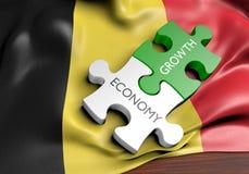 De economie van België en het concept van de financiële marktgroei, het 3D teruggeven royalty-vrije illustratie