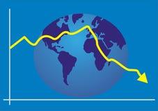 De economie van de grafiek Royalty-vrije Stock Foto's