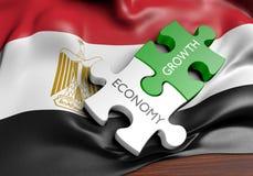 De economie van Egypte en het concept van de financiële marktgroei, het 3D teruggeven royalty-vrije illustratie