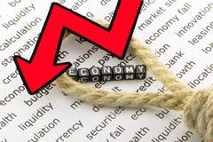 De economiedalingen stock foto's