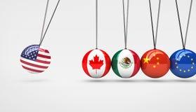 De Economiewereldmarkt van de V.S. het Concept van het Handeleffect royalty-vrije illustratie