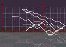 De economische achtergrond Illustratie voor Economie en zaken Royalty-vrije Stock Afbeeldingen