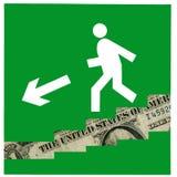 De economische crisis gaat verder. Royalty-vrije Stock Fotografie