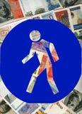 De economische crisis van de wereld. Stock Afbeeldingen