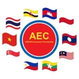 De Economische Gemeenschap van ASEAN, AEC bedrijfsleven forum, voor binnen aanwezig ontwerp Stock Foto's