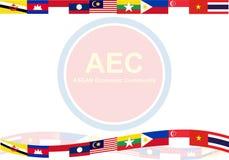 De Economische Gemeenschap van ASEAN, AEC bedrijfsleven forum, voor binnen aanwezig ontwerp Royalty-vrije Stock Fotografie