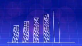 De economische groei grafische grafiek BLAUWE 4K vector illustratie
