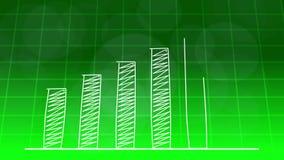 De economische groei grafische grafiek GROENE 4K royalty-vrije illustratie