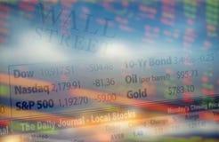 De economische ontwikkelingen van Wall Street stock afbeelding