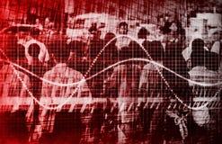 De economische Samenvatting van de Voorspelling van de Mistroostigheid Onverbiddelijke royalty-vrije illustratie