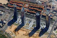 De Economische sector van vier Torens Stock Foto