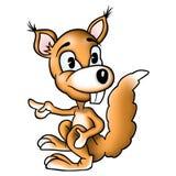 De eekhoorn van de zitting Royalty-vrije Stock Foto's