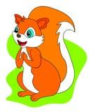 De eekhoorn van het Webbeeldverhaal op witte achtergrond royalty-vrije illustratie